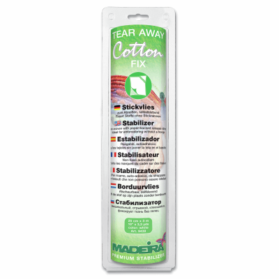 Madeira Stabilizer Tear-Away Cotton Fix 30cm x 3m