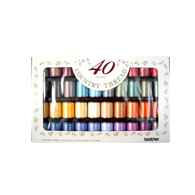 Brother Country Embroidery Thread 40 colours