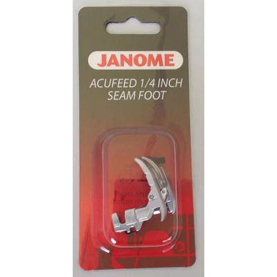 Janome AcuFeed 1/4 inch Seam Foot - MC7700QCP/MC6600P ONLY