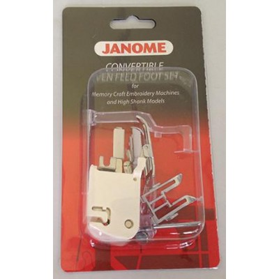 Janome Even Feed Foot Set Convertible (For Memory Craft Embroidery Machines and High Shank Models)