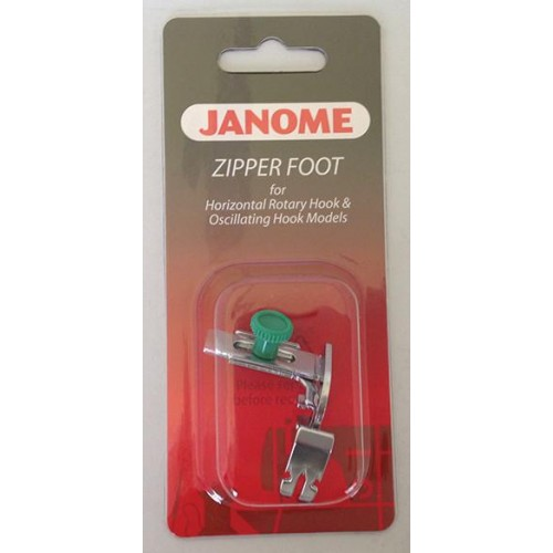 Janome Adjustable Zipper Foot/Piping Foot - Category A/B