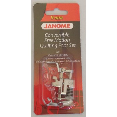 Janome Convertible Free Motion Quilt Foot Set - Category D