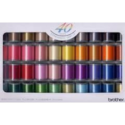 BROTHER SATIN EMBROIDERY SET 40 THREADS