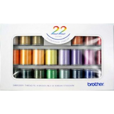 BROTHER 22 SET OF SATIN EMBROIDERY THREADS