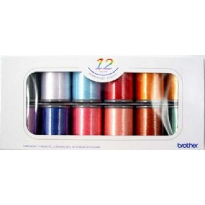 12 SET OF BROTHER SATIN EMBROIDERY THREADS